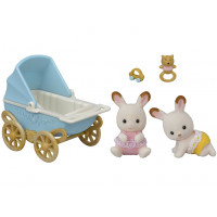 Chocolate Rabbit Twins Set (with stroller)