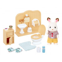 Chocolate Rabbit Brother with Furniture