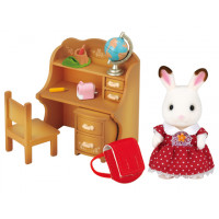 Chocolate Rabbit Sister with Furniture