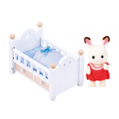 Chocolate Rabbit Baby with Furniture