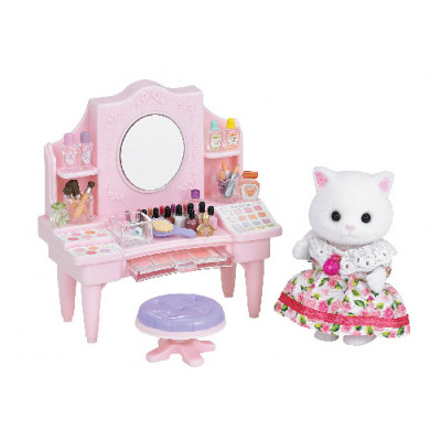 Cosmetic Counter with Persian Cat