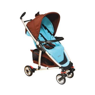 Baby Stroller-Fantasia-Aqua & Brown