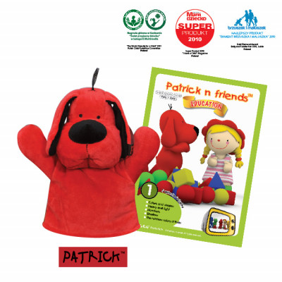 Patrick n Friends DVD Cartoon with Hand Puppet - Patrick